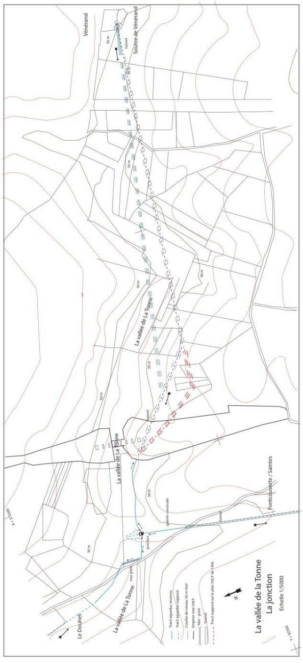Fig. 16. Relevés et DAO V. Miailhe et J.-L Hillairet – plan de situation.